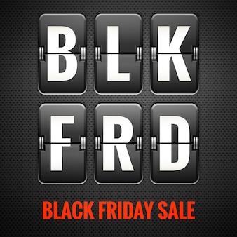 Black friday-verkoop.
