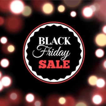 Black friday-verkoopaffiche in realistische stijl omvat achtergrond met lichten