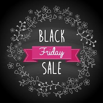 Black friday-verkoopaffiche