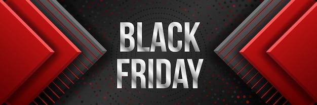 Black friday-verkoopbanner. commerciële kortingsevenementbanner