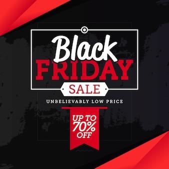 Black friday-verkoopbanner malplaatjevector