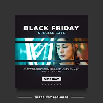 Black friday-verkoopbanner met futuristisch en minimalistisch concept