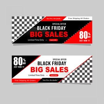 Black friday-verkoopbanner met korting