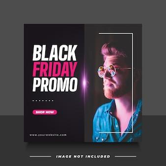 Black friday-verkoopbanner met minimalistisch concept