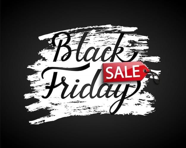 Black friday-verkoopbanner op zwarte achtergrond