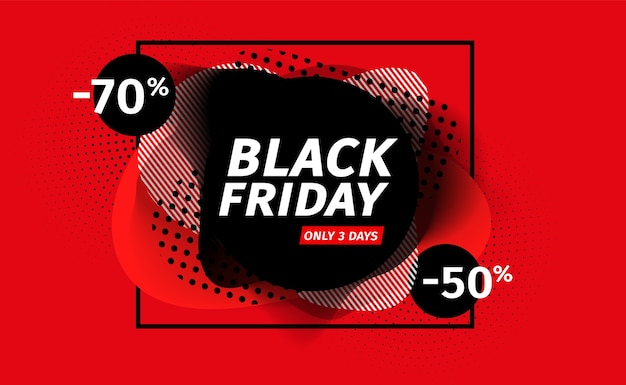 Black friday-verkoopbanner