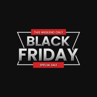 Black friday-verkoopbannerachtergrond