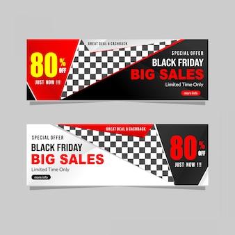 Black friday-verkoopbannerinzameling met korting