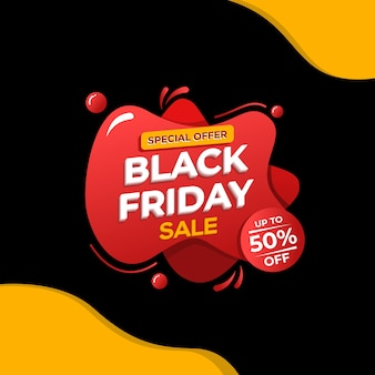 Black friday-verkoopbannermalplaatje.