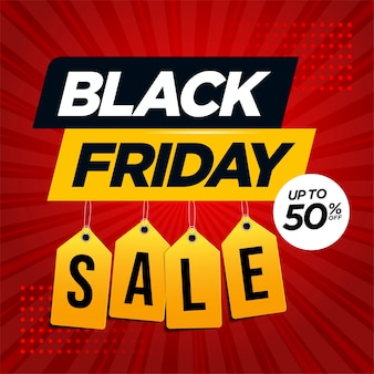 Black friday-verkoopbannermalplaatje