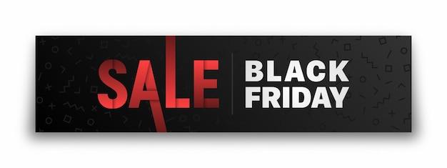 Black friday-verkoopbannerontwerp.
