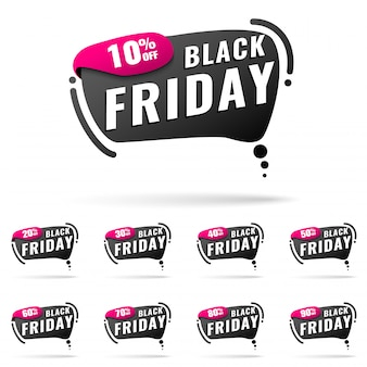 Black friday-verkoopbanners