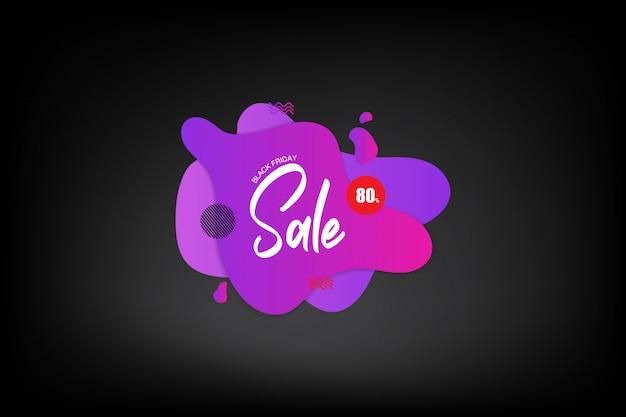 Black friday-verkoopembleemachtergrond