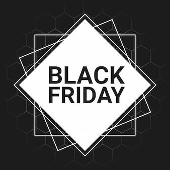 Black friday-verkoopflyer met geometrische vormen