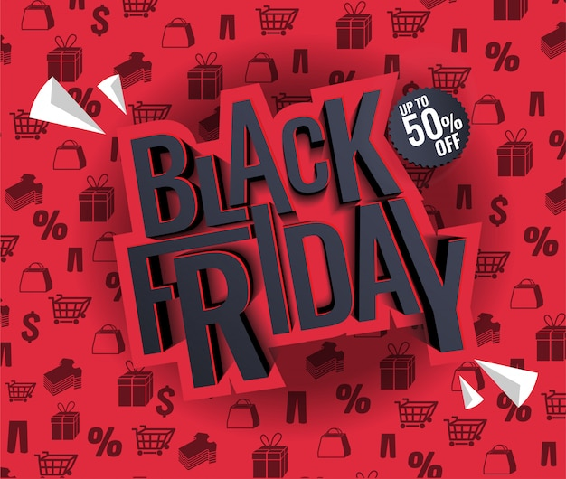 Black friday-verkoopillustratie