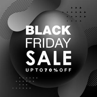 Black friday-verkoopontwerp met gradiëntvormen. trendy futuristische designposters met vloeiende vormen. vector illustratie