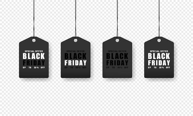 Black friday-verkoopprijskaartje. boodschappen doen. lage prijs.