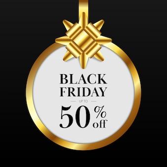 Black friday-verkooppromotiebanner en speciale aanbiedingskorting. Premium Vector
