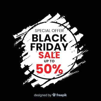Black friday-verkoopsamenstelling met vlekachtergrond
