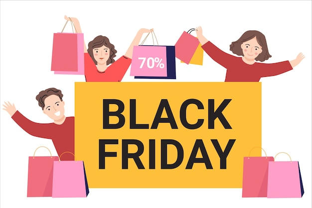 Black friday-verkoopsjabloon voor spandoek