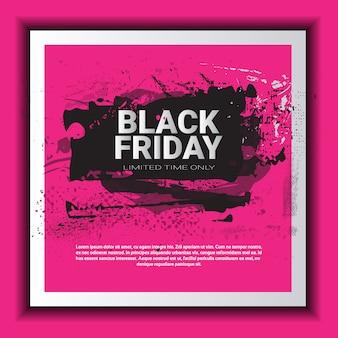 Black friday vierkante sjabloon voor spandoek