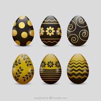 Black & gold pasen eieren collectie