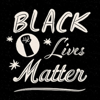 Black lives matter - belettering concept