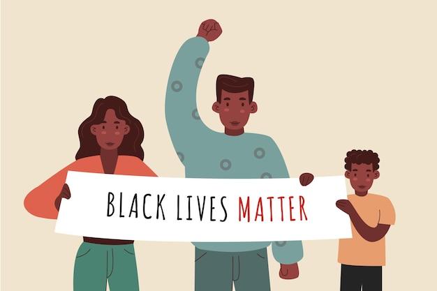 Black lives matter concept