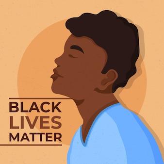 Black lives matter concept Gratis Vector