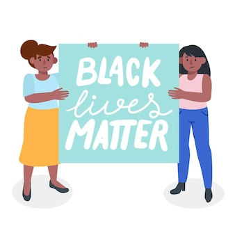 Black lives matter illustratie concept