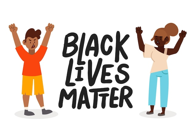 Black lives matter illustratie