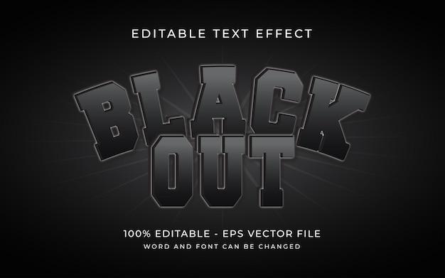 Black-out teksteffectstijl bewerkbaar lettertype teksteffect