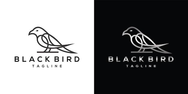 Black raven lijntekeningen logo