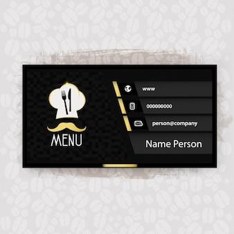Black restaurant adreskaartje