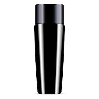 Black shampoo plastic fles met douchegel