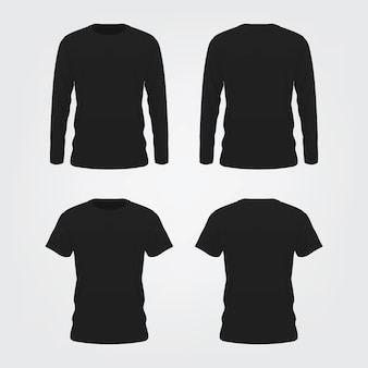 Black tshirt mock up op witte achtergrond