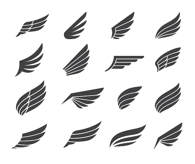 Black wing icon elements