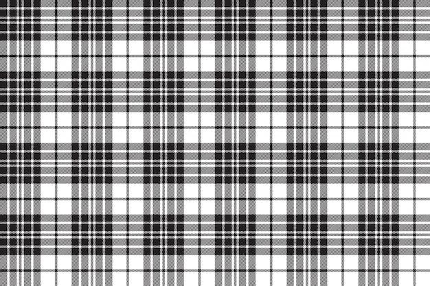 Blackberry clan tartan diagonaal zwart wit naadloos patroon