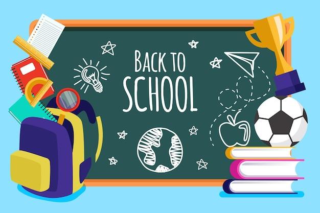 Blackboard achtergrond terug naar school
