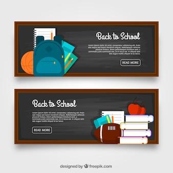 Blackboard banners met vlak ontwerp