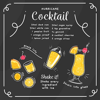 Blackboard cocktail recept