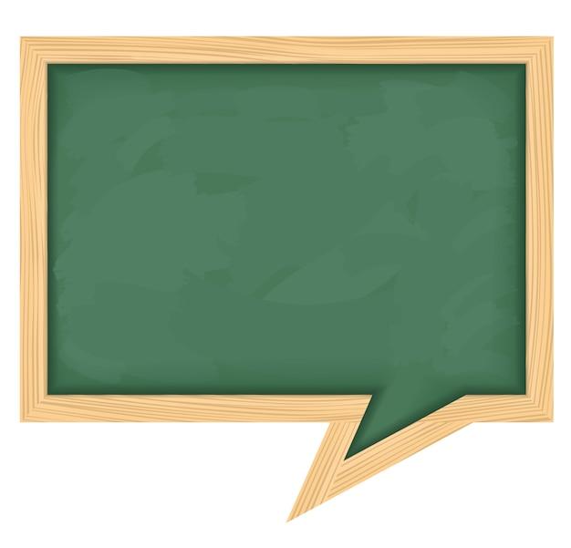 Blackboard gevormd als tekstballon