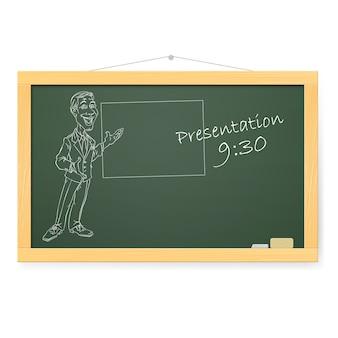Blackboard illustratie