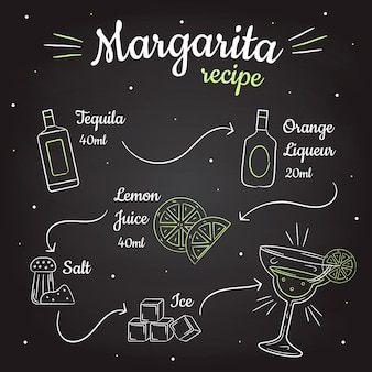 Blackboard margarita cocktail recept