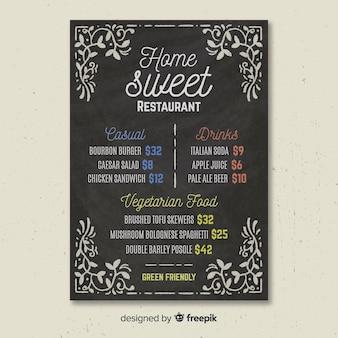 Blackboard menusjabloon