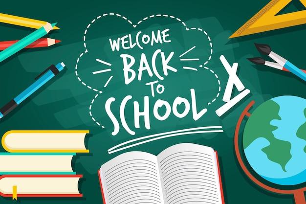 Blackboard met terug naar school concept