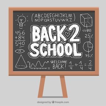 Blackboard met wiskundige operaties