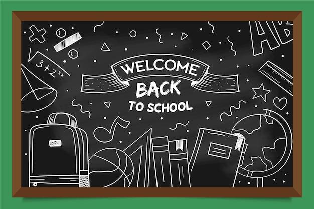 Blackboard ontwerp terug naar school achtergrond
