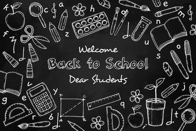 Blackboard school achtergrondstijl