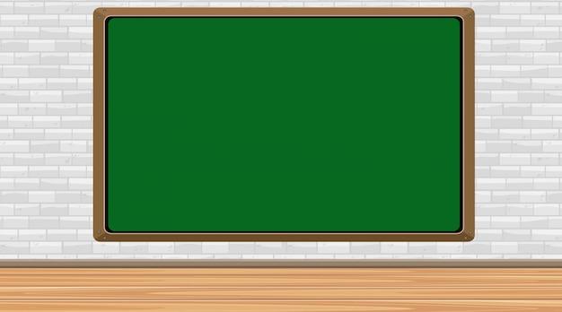 Blackboard-sjabloon aan de muur